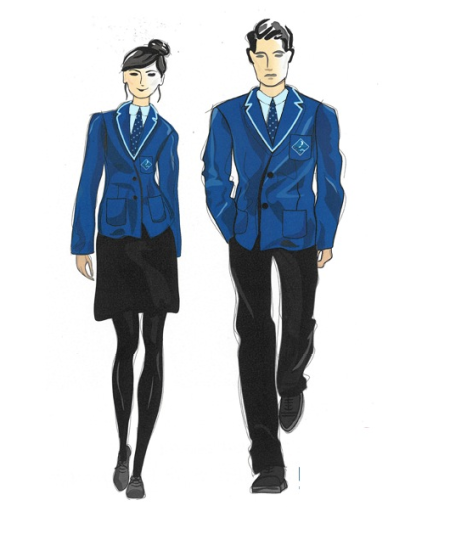 New uniform: for girls this will consist of a smile, a small waist and long legs.